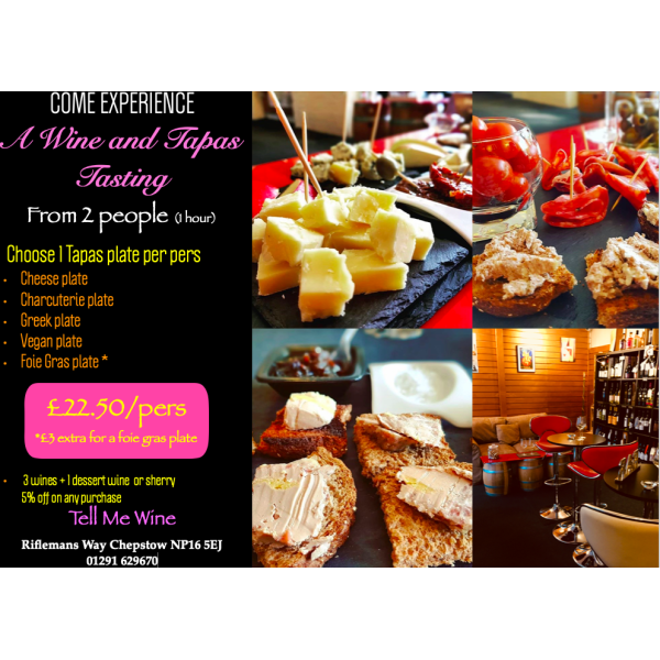 Booking - Wine and Tapas Tasting